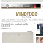 Win 1 of 10 leather pouches from The Daily Edited