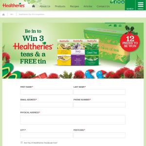 Win 1 of 12 Healtheries Tea Tin Prize Packs