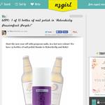 Win 1 of 15 bottles of nail polish in ?Rekorderlig Passionfruit Purple!?