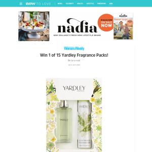 Win 1 of 15 Yardley Fragrance Packs