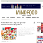 Win 1 of 2 Ceres Organics grocery bundles valued at $250 each