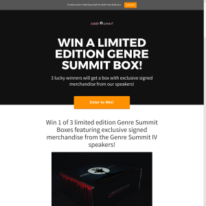 Win 1 of 3 limited edition Genre Summit Boxes featuring exclusive signed merchandise