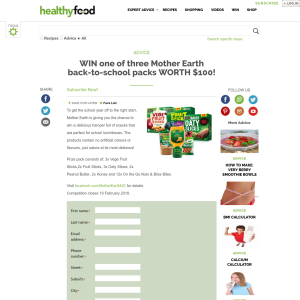Win 1 of 3 Mother Earth back-to-school packs