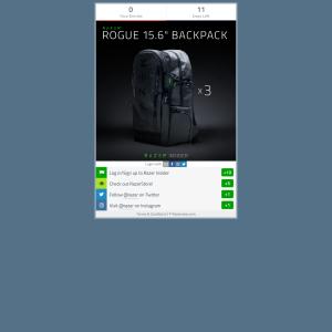 Win 1 of 3 Razer Rogue 15.6