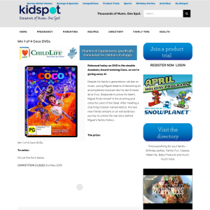 Win 1 of 4 Coco DVDs