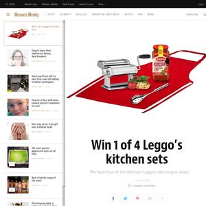 Win 1 of 4 Leggo's kitchen sets