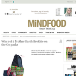 Win 1 of 5 Mother Earth Brekkie on the Go packs