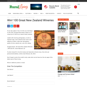 Win 100 Great New Zealand Wineries