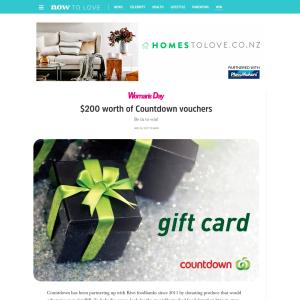 Win $200 worth of Countdown vouchers