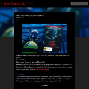Win 47 Metres Down on DVD