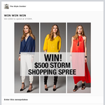 Win $500 to spend at Storm