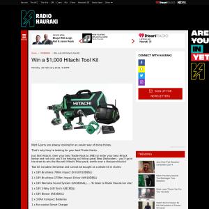 Win a $1,000 Hitachi Tool Kit