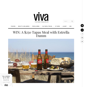 Win A $250 Tapas Meal with Estrella Damm