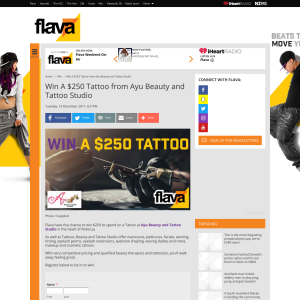 Win A $250 Tattoo from Ayu Beauty and Tattoo Studio