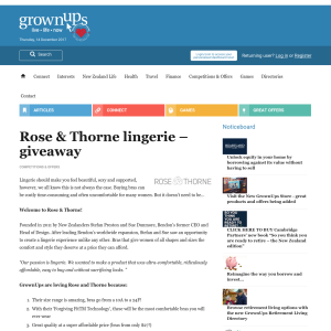 Win a $250 voucher for Rose and Thorne