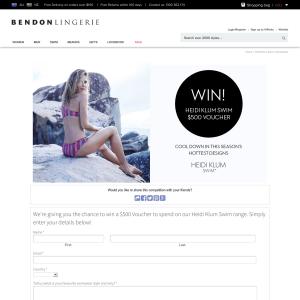 Win a $500 Bendon Lingerie Voucher