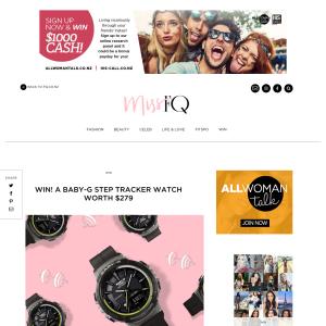 Win A Baby-G Step Tracker watch