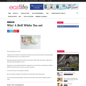 Win A Bell White Tea set