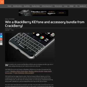 Win a BlackBerry KEYone and accessory bundle