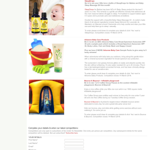 Win a bottle of SleepDrops for Babies and Baby Sleep Massage Oil