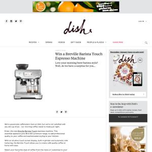 Win a Breville Barista Touch Espresso Machine