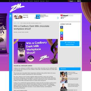 Win a Cadbury Dark Milk chocolate workplace shout
