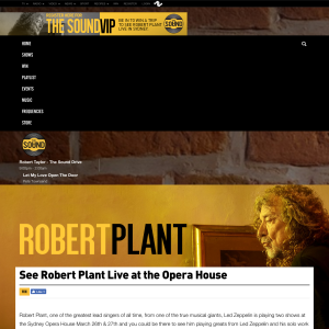 Win a chance to see Robert Plant Live at the Opera House