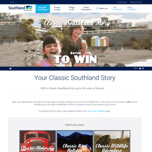 Win a Classic Southland trip