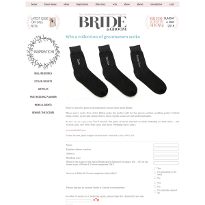 Win a collection of groomsmen socks