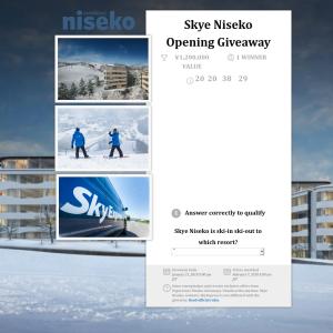 Win a Complete 3 Night Stay Package at Skye Niseko, Japan