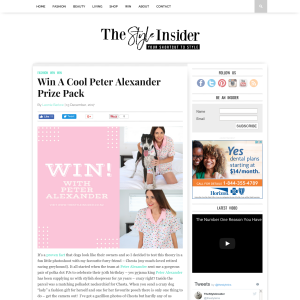 Win A Cool Peter Alexander Prize Pack