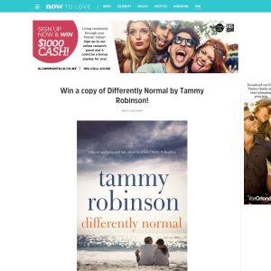 Win a copy of Differently Normal by Tammy Robinson