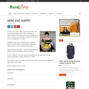 Win a copy of Eat Happy
