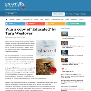 Win a copy of 'Educated' by Tara Westover