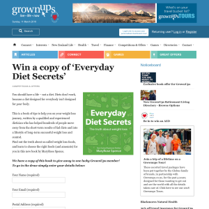 Win a copy of 'Everyday Diet Secrets'