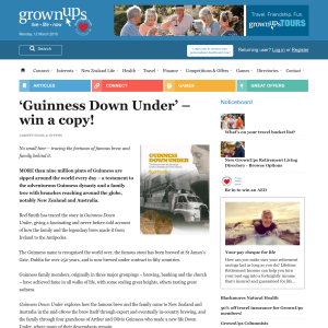 Win a copy of 'Guinness Down Under'
