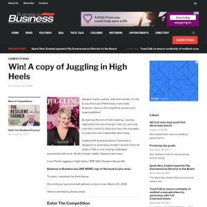 Win A copy of Juggling in High Heels