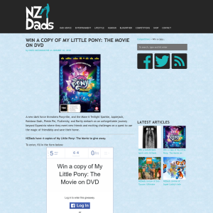 Win a copy of My Little Pony: The Movie on DVD
