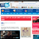 Win a copy of Taylor Swift's New Album 1989