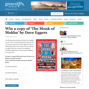 Win a copy of 'The Monk of Mokha' by Dave Eggers