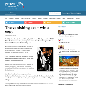 Win a copy of The vanishing act