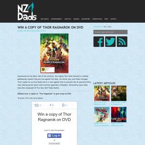 Win a copy of Thor Ragnarok on DVD