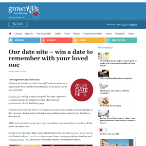 Win a date to remember with your loved one