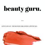 Win a Designer Brand Lipstick