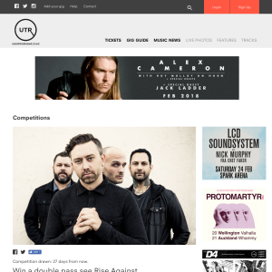 Win a double pass see Rise Against