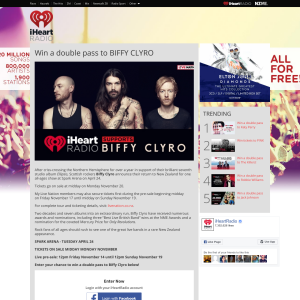 Win a double pass to BIFFY CLYRO