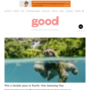 Win a double pass to Earth: One Amazing Day