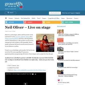 Win a double pass to Neil Oliver - Live on Stage