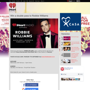 Win a double pass to Robbie Williams