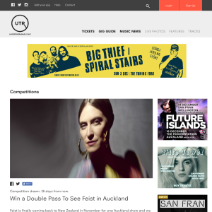 Win a Double Pass To See Feist in Auckland